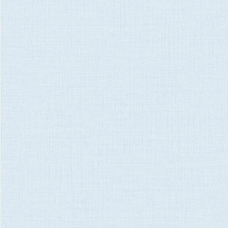 Vliestapete 'Leinenoptik' Uni hellblau