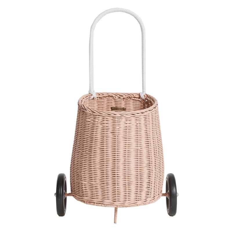 Kinder-Trolley 'Luggy' altrosa 55cm