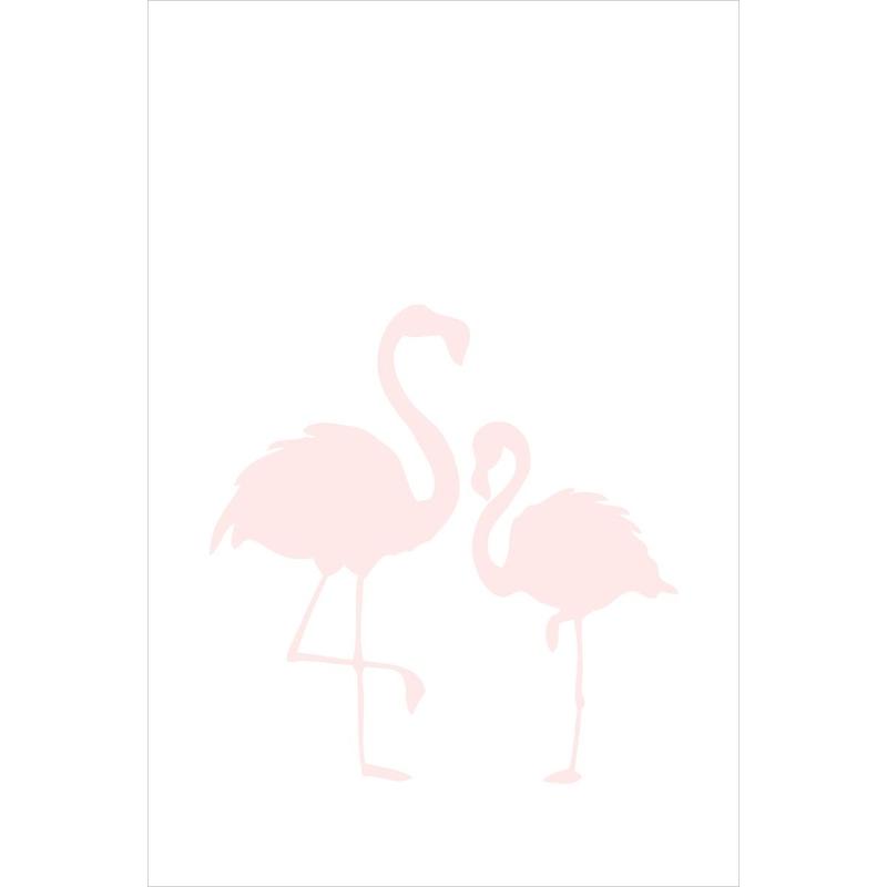 Fototapete 'Flamingos' rosa/weiß 186x279cm