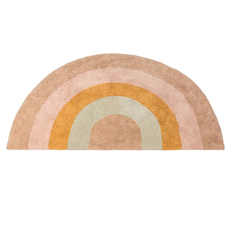 Teppich 'Regenbogen' puder/gelb ca. 136cm