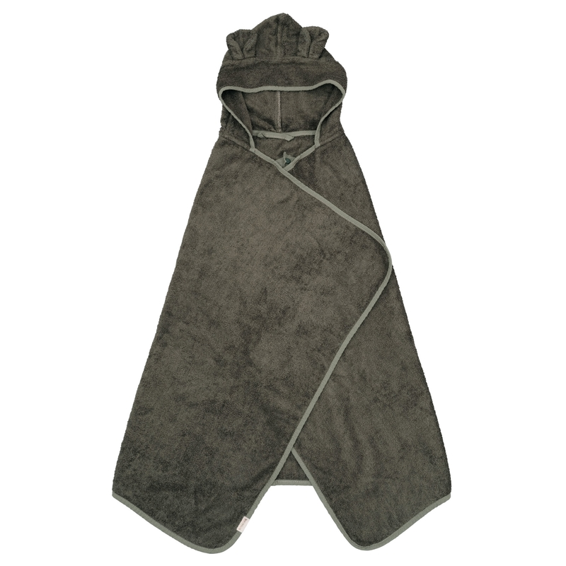 Wickeltuch 'Bär' Frottee khaki 75x120cm