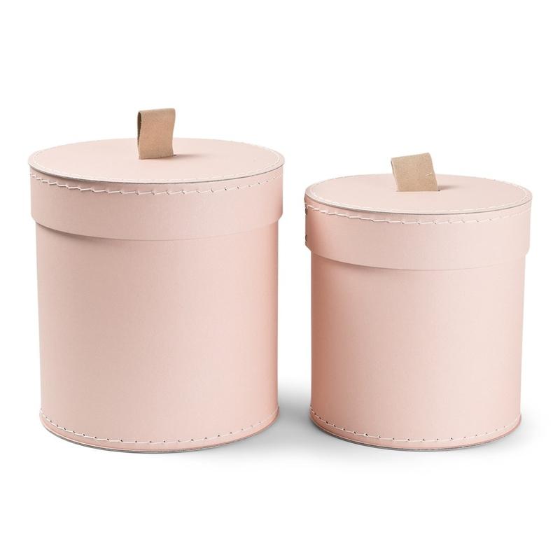 Aufbewahrungsboxen aus Pappe puderrosa