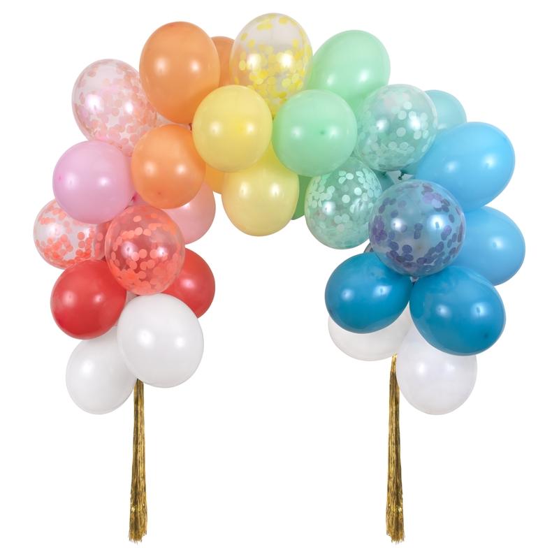 XL Party Luftballongirlande in Regenbogenfarben 40-tlg.