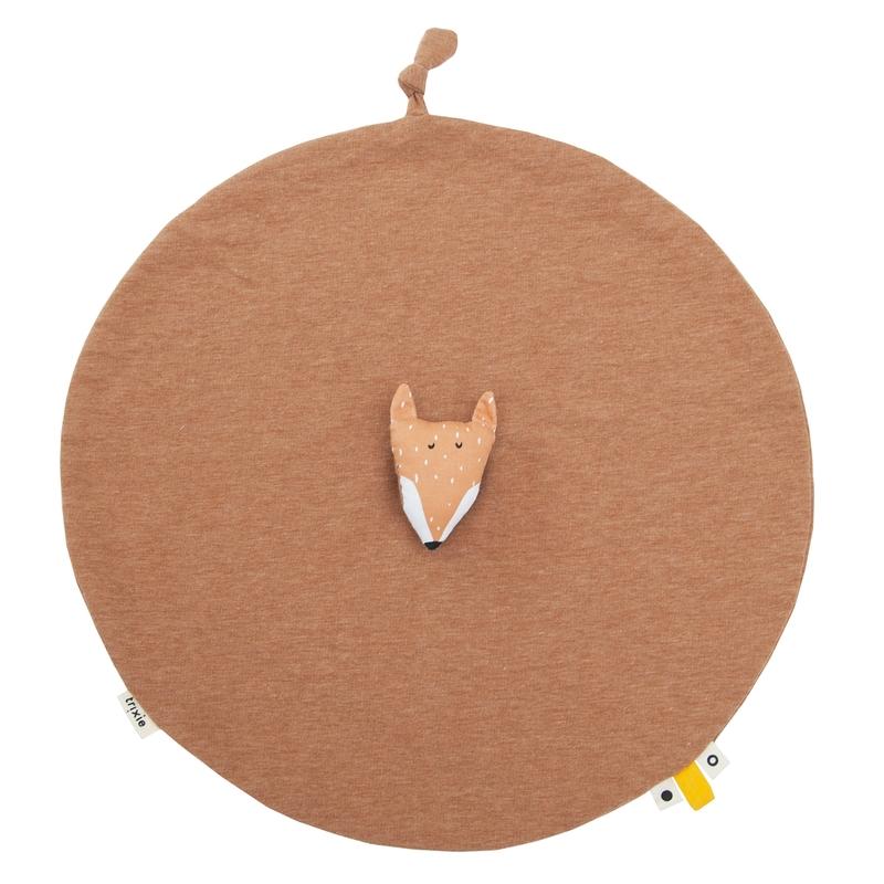 Schnuffeltuch 'Fuchs' Jersey orange ca. 40cm