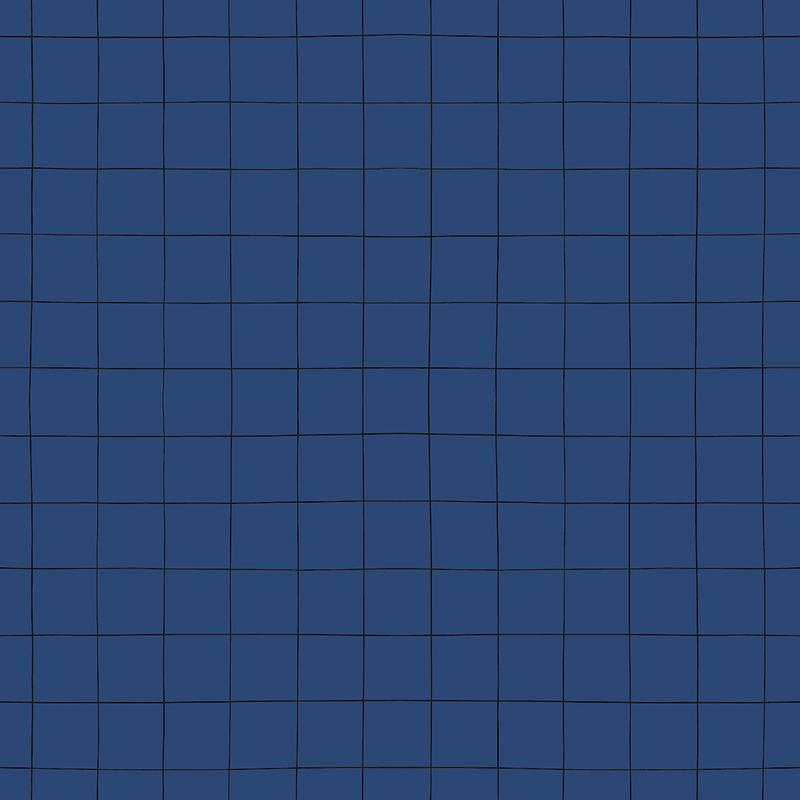 Vliestapete 'Karos' dunkelblau/schwarz