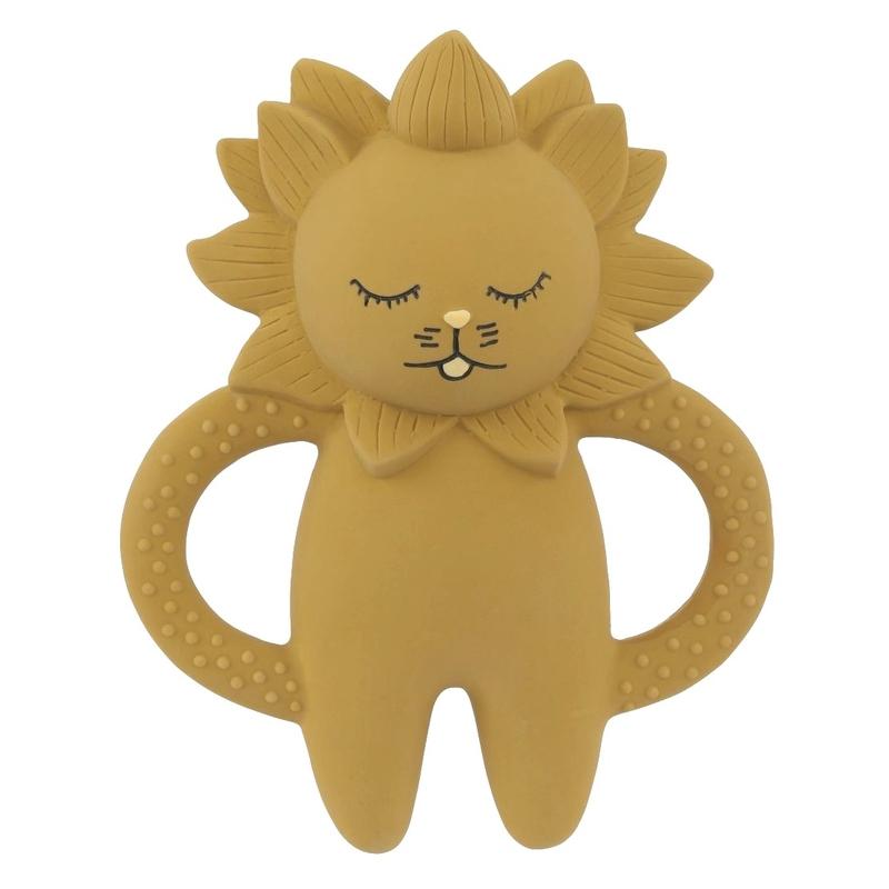 Kauspielzeug 'Löwe' Naturkautschuk senfgelb