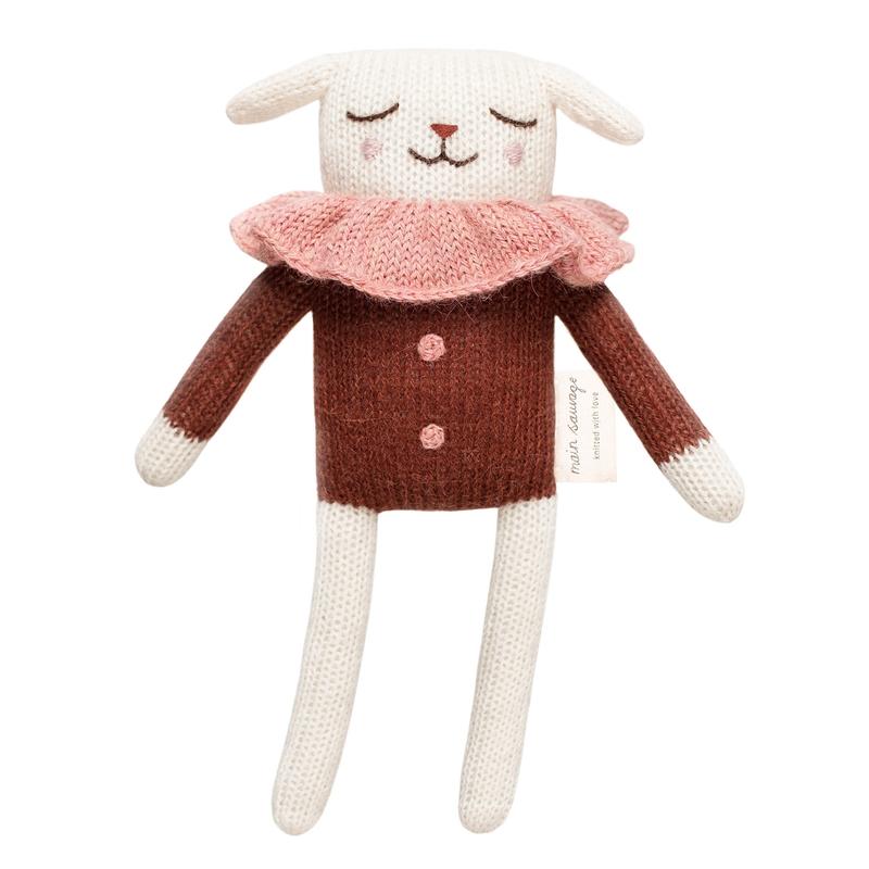 Kuscheltier 'Lamm' Alpakawolle rost