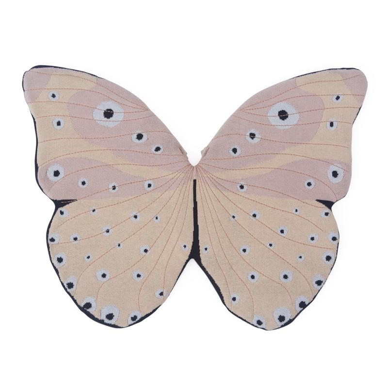 Baumwoll-Flügel 'Schmetterling' altrosa