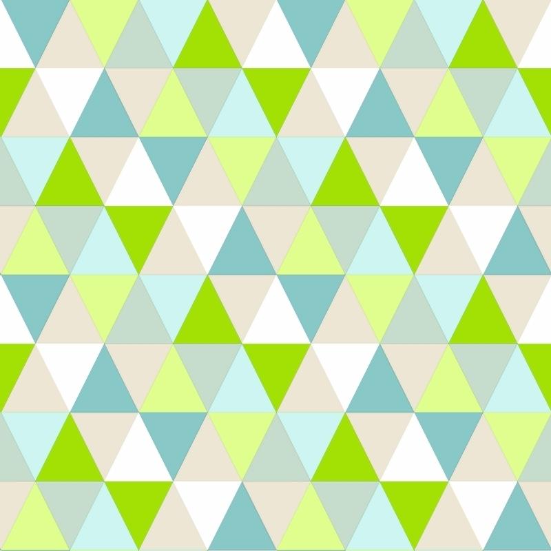Vliestapete 'Triangle' grün/türkis
