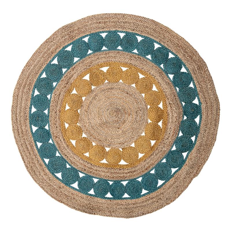 Teppich Jute 'Marlin' blau rund 119cm