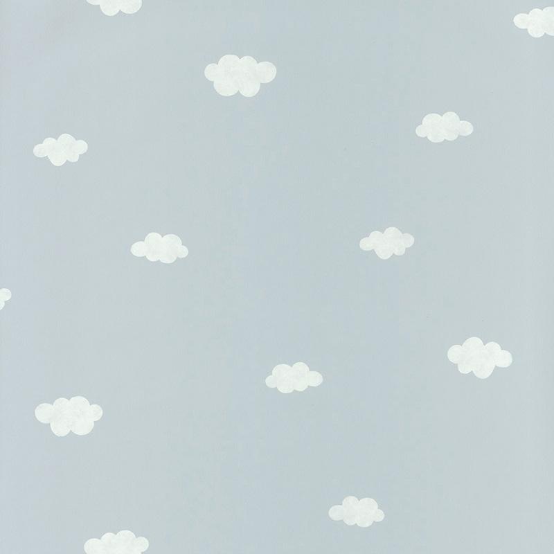 Tapete 'My Little World' Wolken hellblau