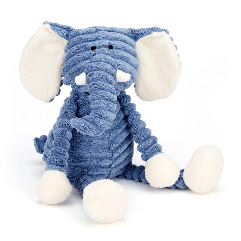Kuscheltier 'Babyelefant Cordy' blau 34cm
