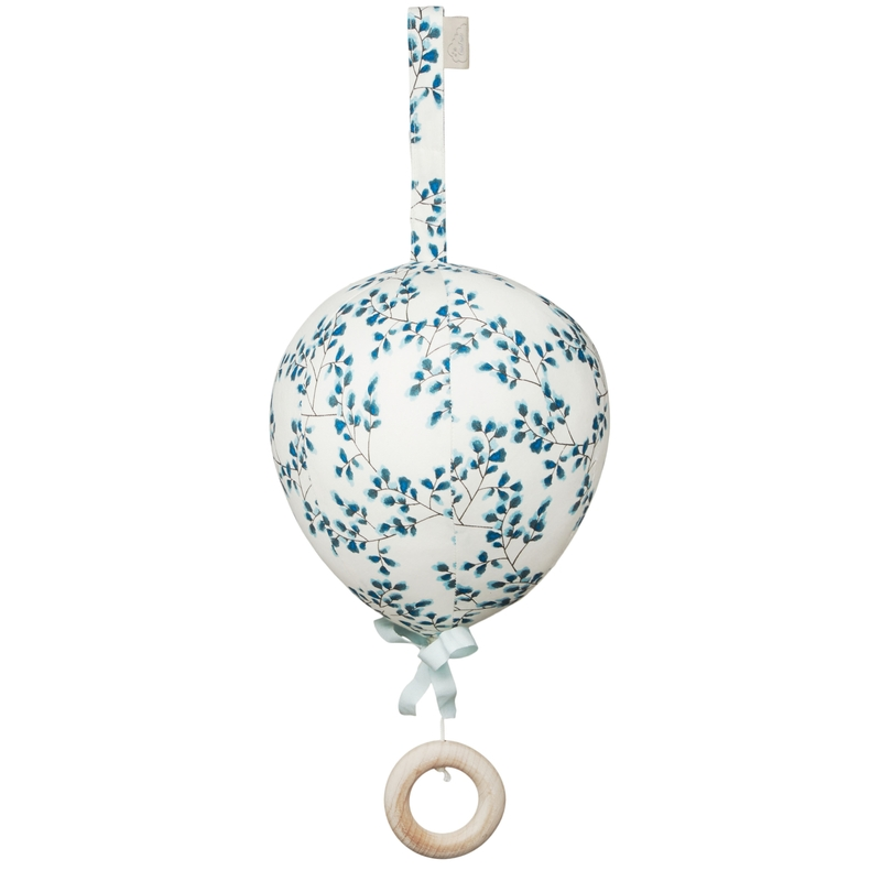 Bio Spieluhr Heißluftballon 'Fiori' blau