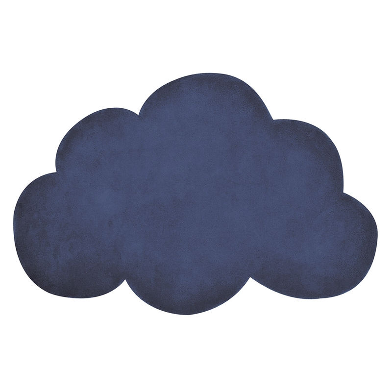 Kinderteppich 'Wolke' marine ca. 64x100cm