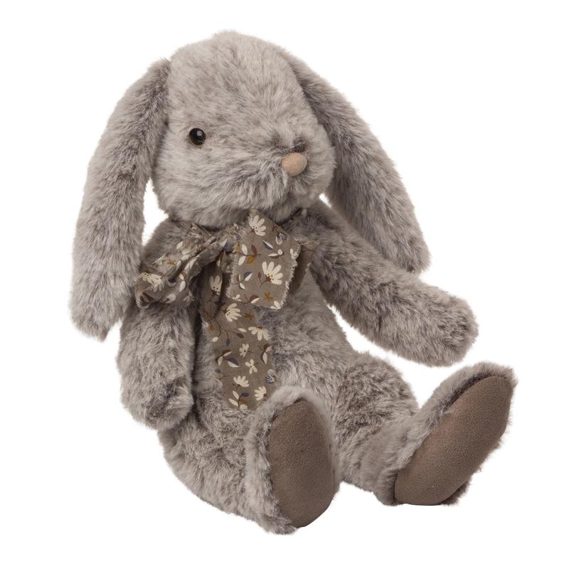 Kuschelhase 'Fluffy' Plüsch grau/braun 30cm
