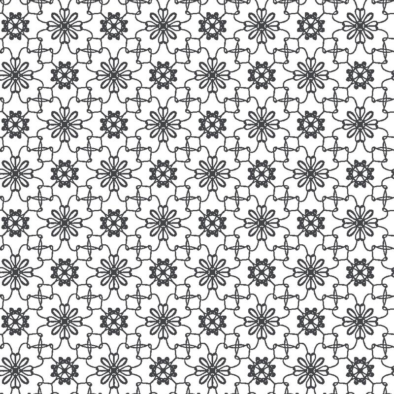 Tapete 'Blumen Mosaik' weiß/schwarz