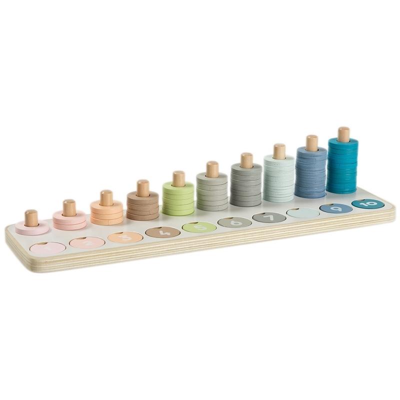 Zahlen-Steckspiel in Pastell ab 3 Jahren