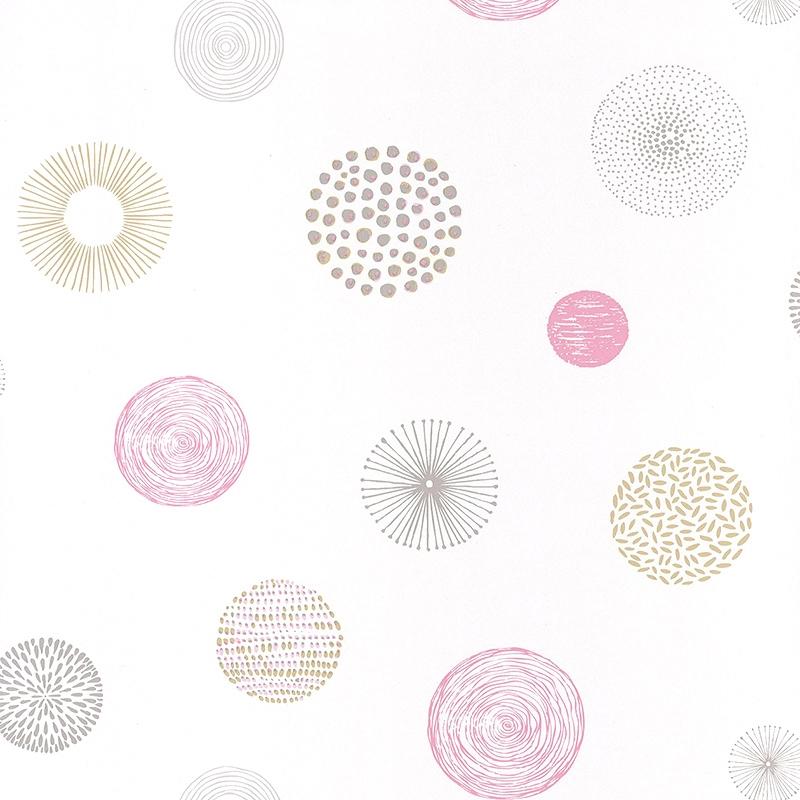 Tapete Kreise rosa/beige 'Pretty Lili'