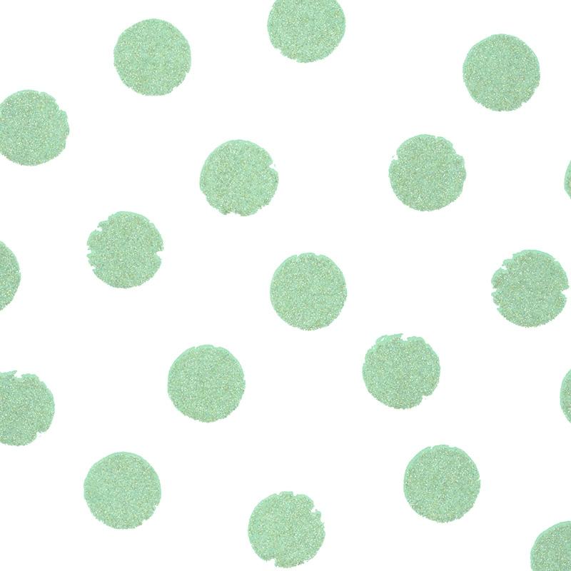 Vliestapete 'Glanzpunkte' hellgrün/weiß