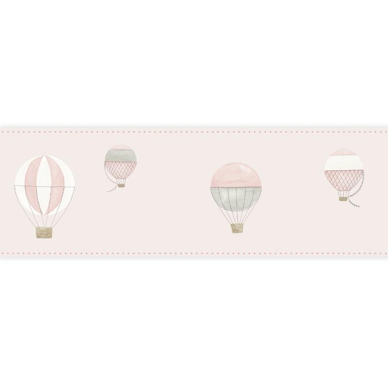 Bordüre 'My Little World' Heißluftballons rosa