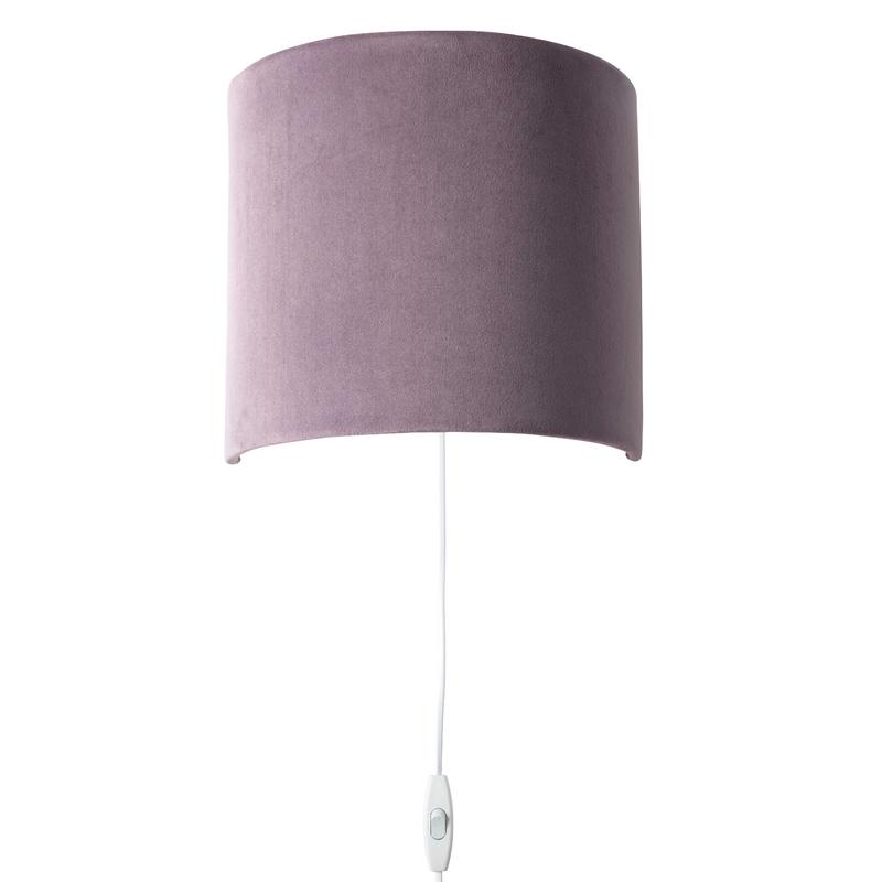 Wandlampe 'Sweet' Samt lavendel 23cm