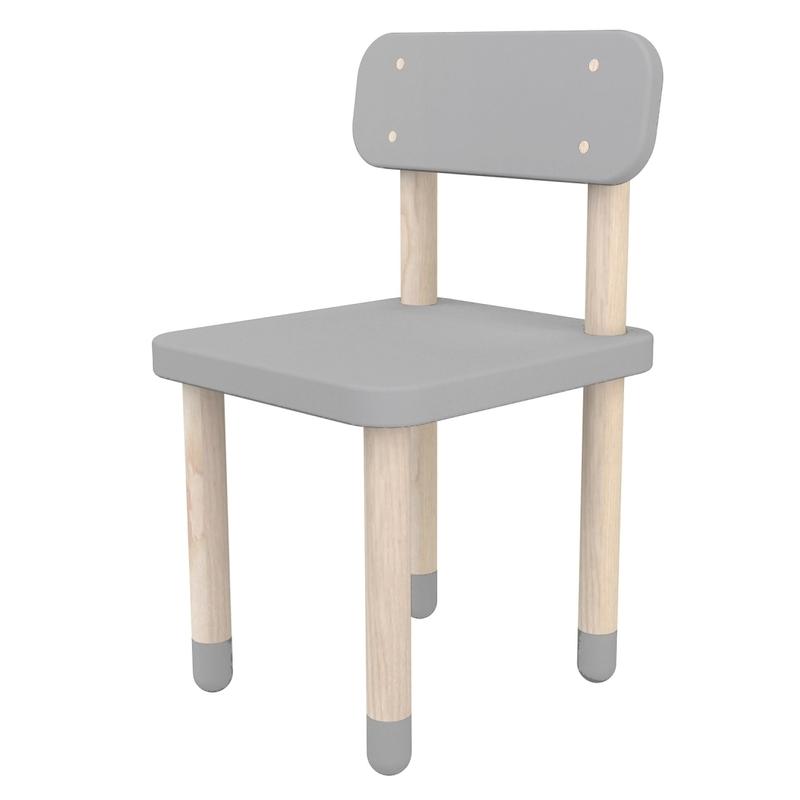 Play Stuhl grau MDF/Esche massiv