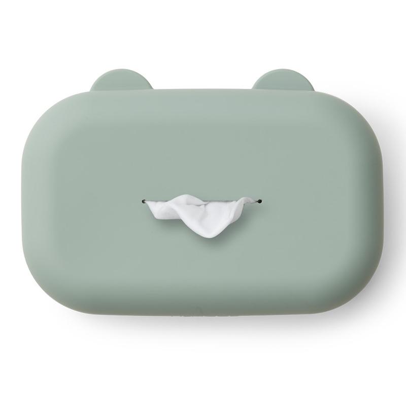 Feuchttücher-Box Silikon jade