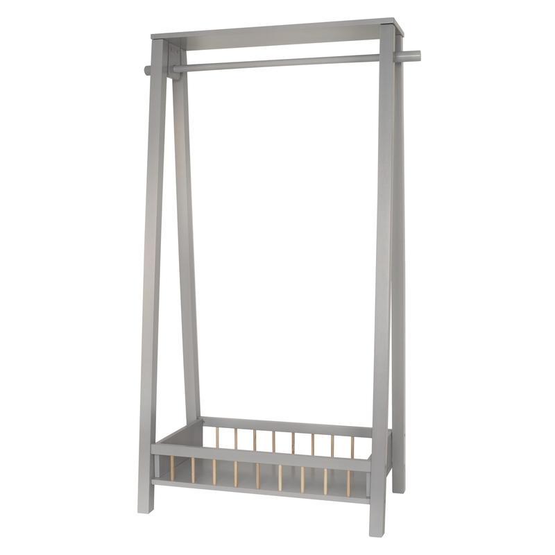 Garderobenständer aus Holz grau 65x116cm