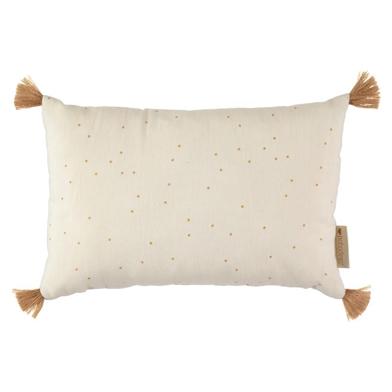 Kissen mit Quasten 'Sweet Dots' creme ca. 20x35cm