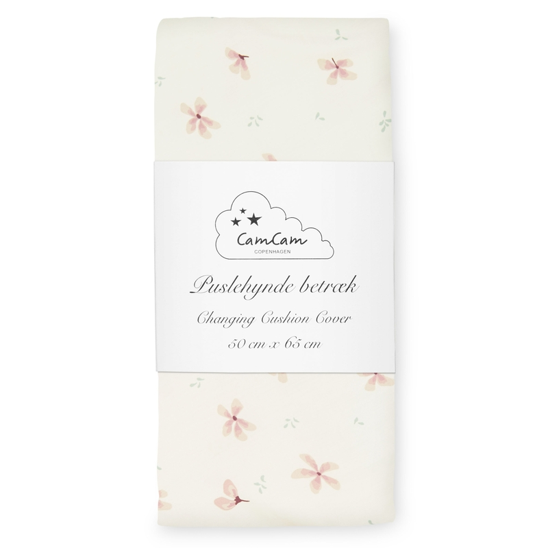 Wickelauflagenbezug 'Windflower' creme/rosa