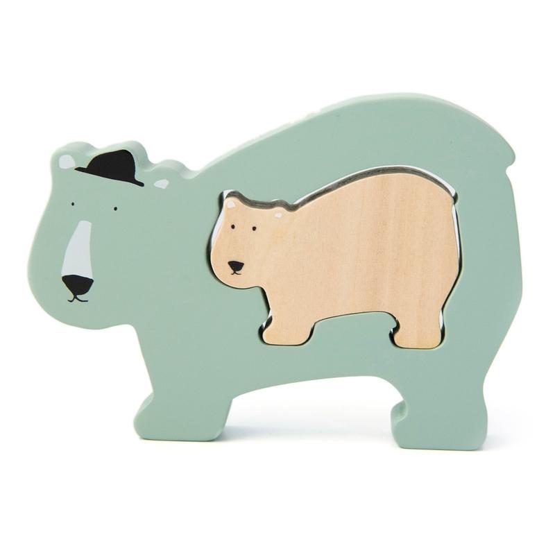 Baby Puzzle 'Eisbär' aus Holz mint ab 1 Jahr