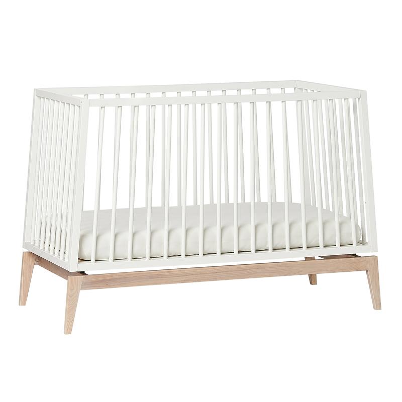 Babybett 'Luna' weiß/natur 60x120cm