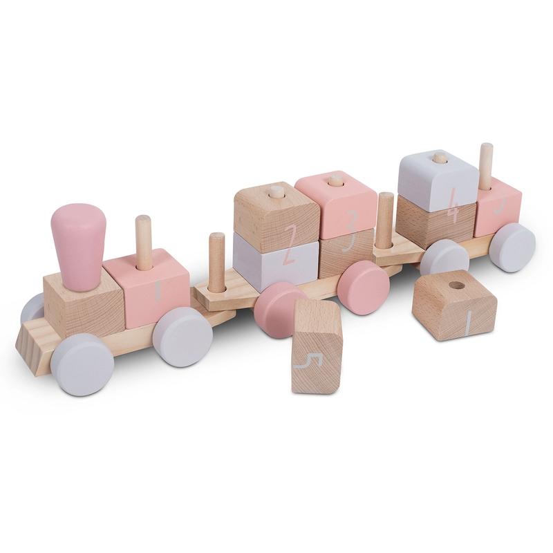 Steckspiel Holzzug rosa ab 1 Jahr
