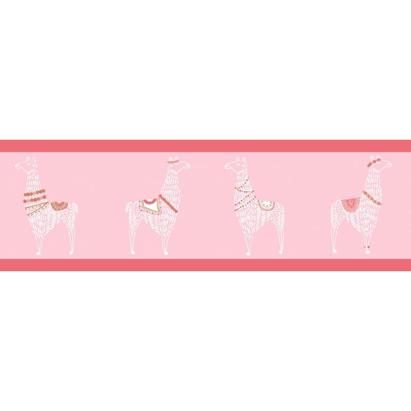 Bordüre 'Lama' rosa/pink