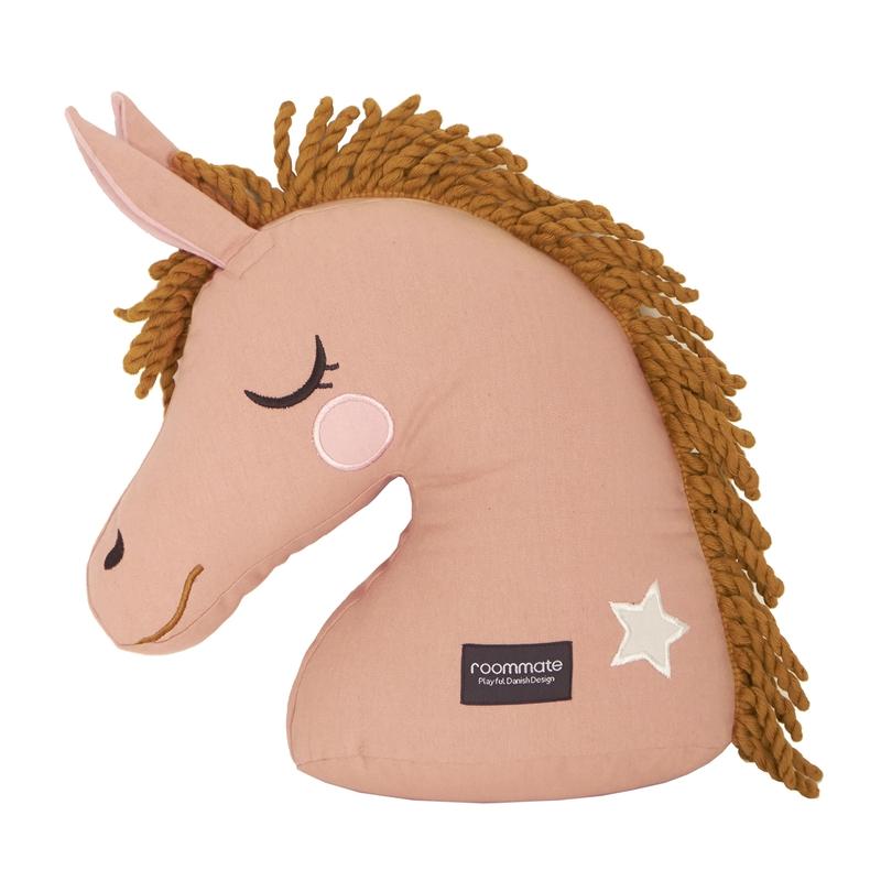 Spielkissen 'Pferd' bestickt altrosa 40cm
