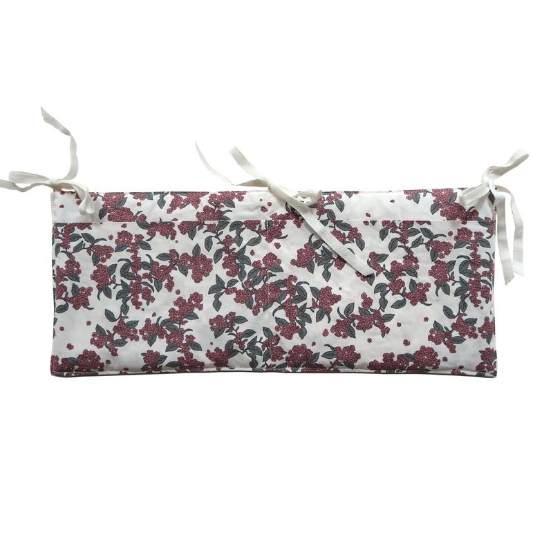 Betttasche 'Cherrie Blossom' 40x17cm