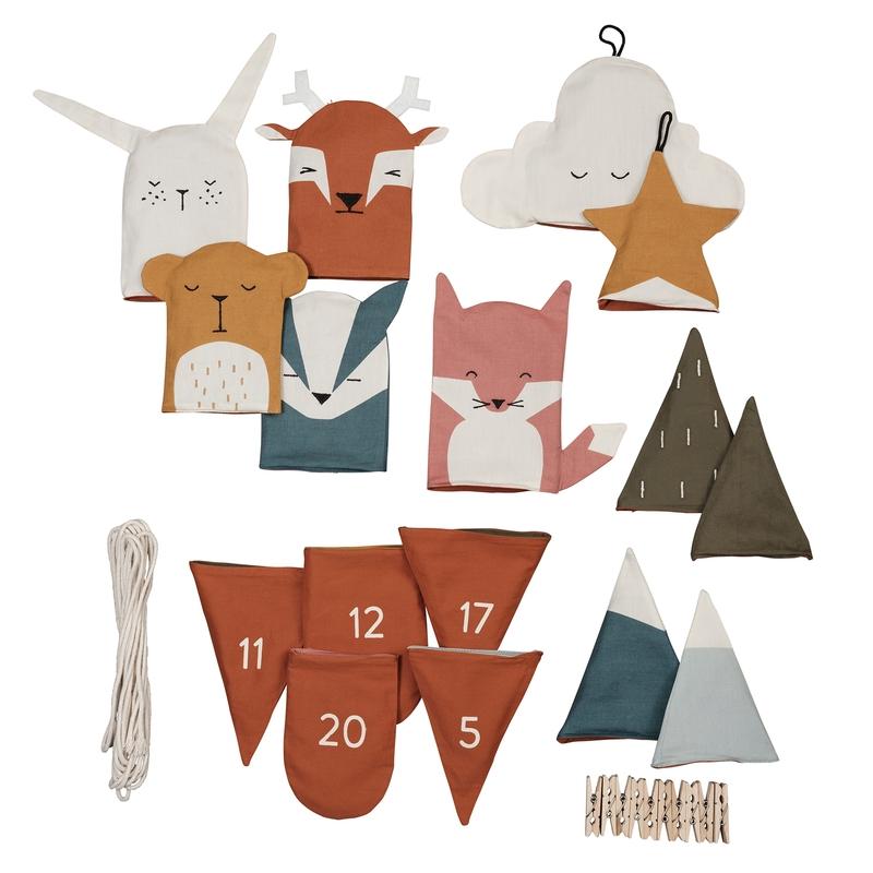 Adventskalender mit Tieren 'Woodland'