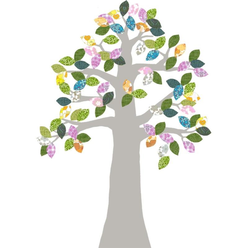 Tapetenbaum silber/bunt 230cm