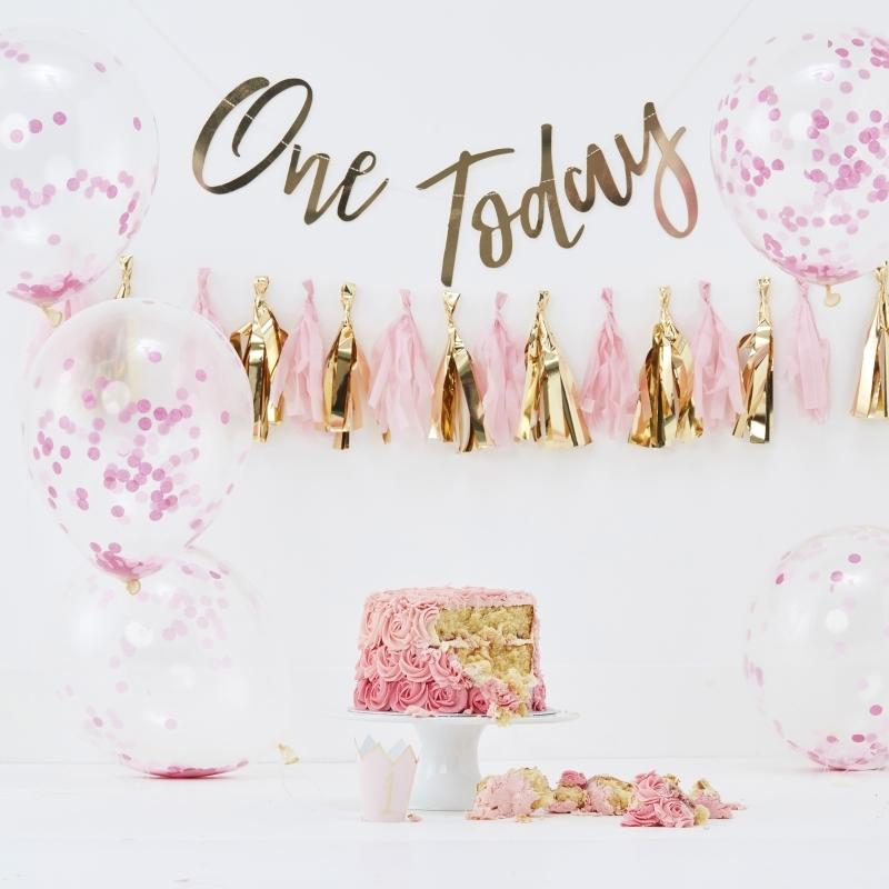 Fotopaket 'One today' gold/rosa 8-tlg.