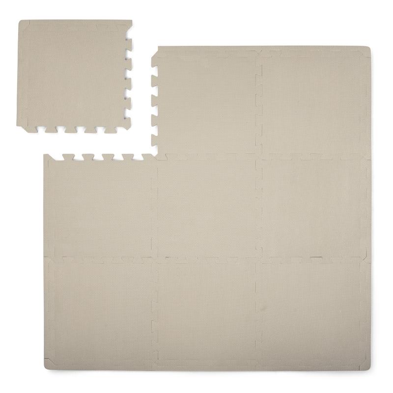 Puzzlematte Schaumstoff warmgrau 100x100cm