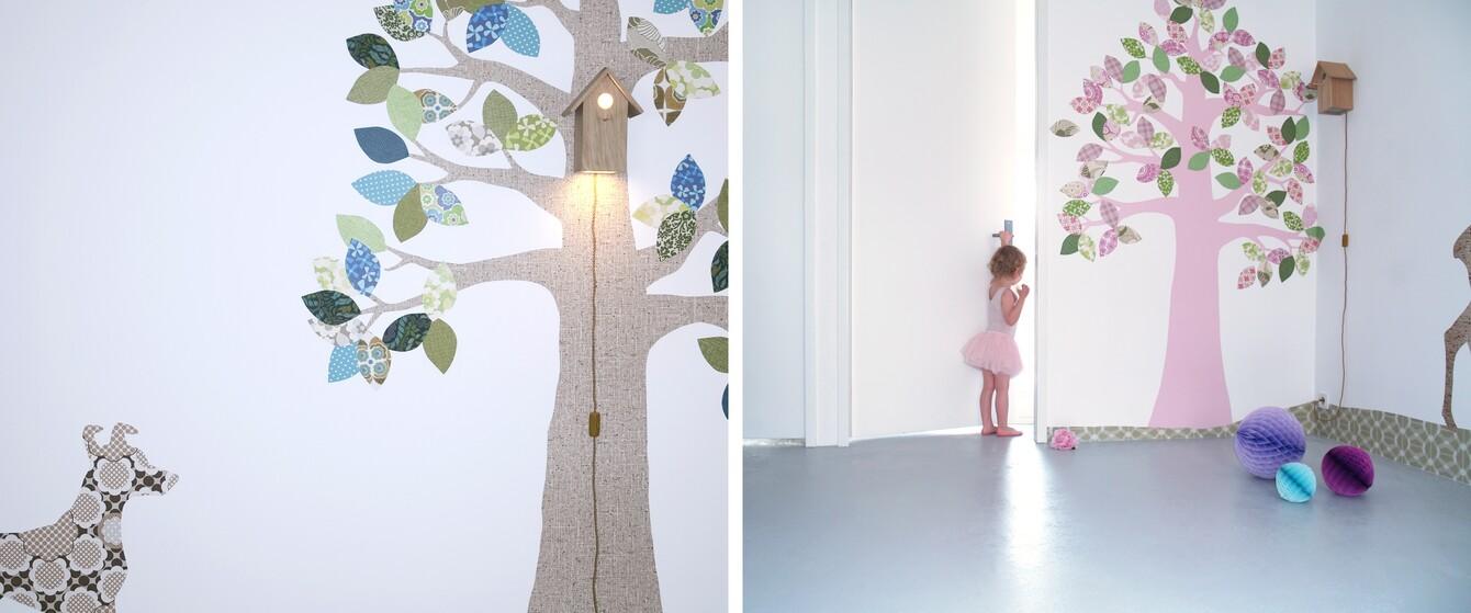 Tapetenbaum im Kinderzimmer
