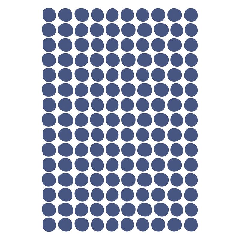 Wandsticker 'Basic Punkte' navy 150-tlg.