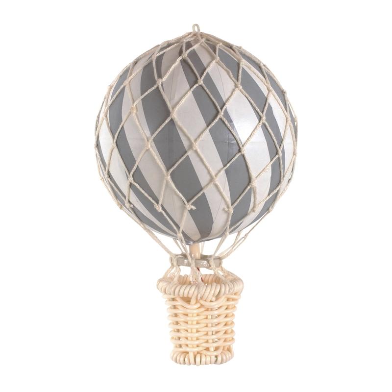 Heißluftballon grau ca. 10cm handmade