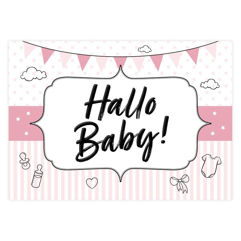 """Geschenkgutschein """"Hallo Baby"""" rosa"""