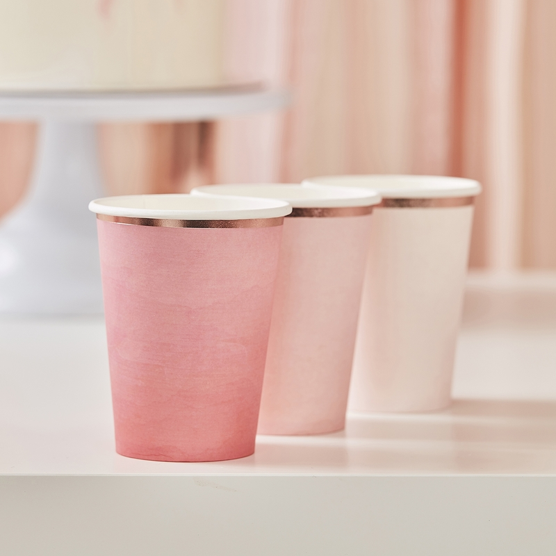 Pappbecher 'Mix it up' roségold 8 St.