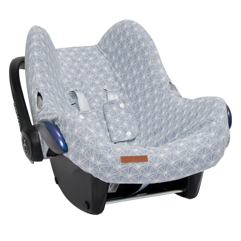 Sitzbezug 'Lily Leaves' rauchblau für Babyschale