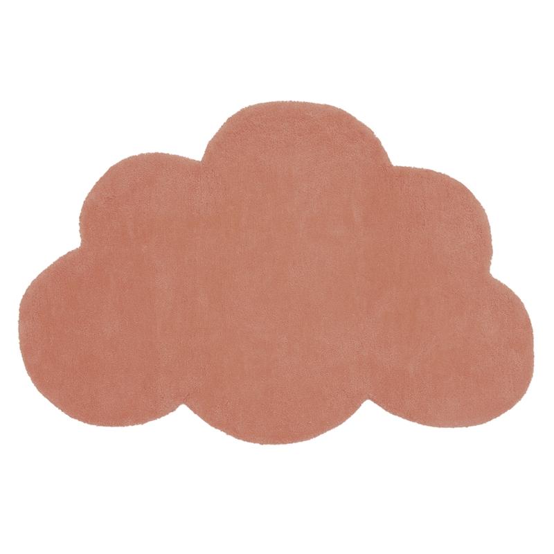 Kinderteppich 'Wolke' terracotta ca. 64x100cm