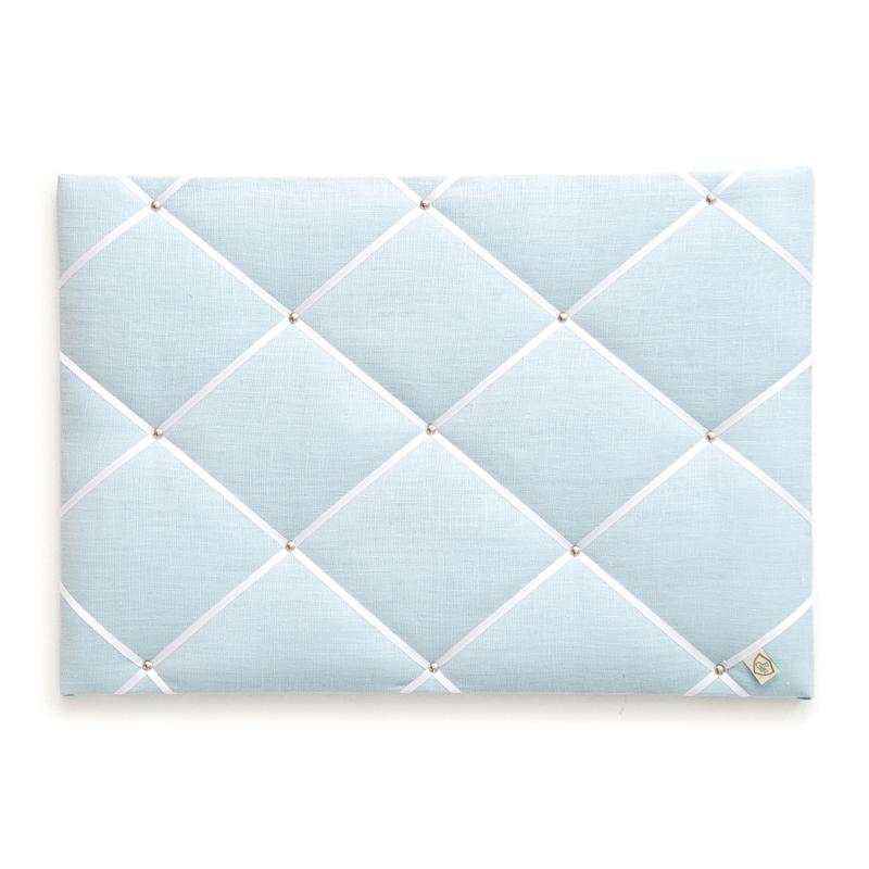 Memoboard Leinen 'Pastell' hellblau 45x65cm