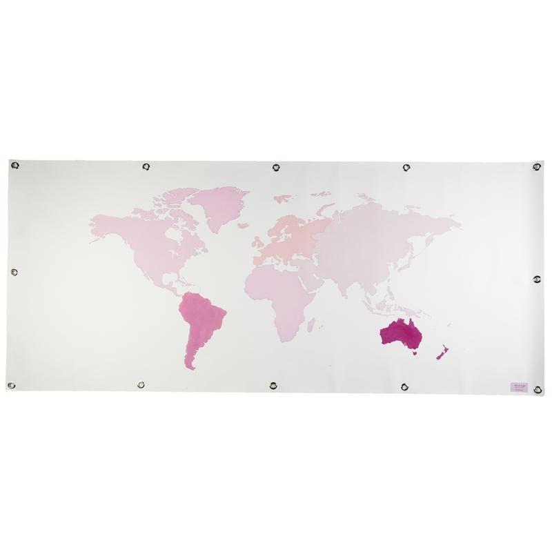 Plane für Spielbett & Häuschen 'Weltkarte' rosa