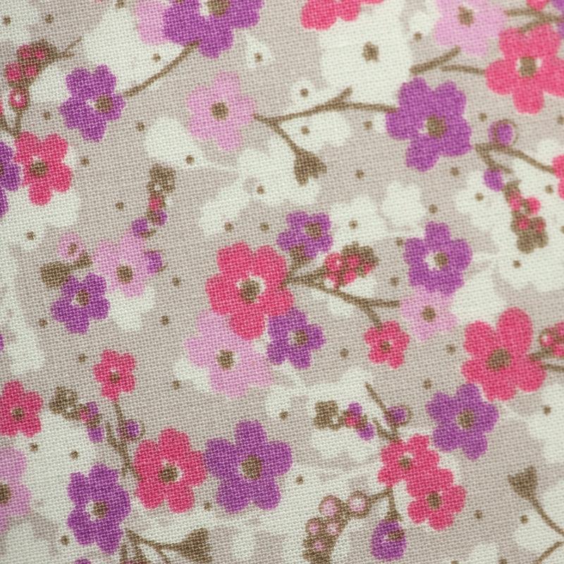 Stoff 'Blümchen violett/rosa 'Pretty Lili'